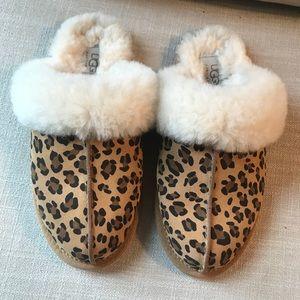 UGG Scuffette Leopard Print Slippers